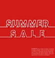 summer sale banner template minimal line design vector image
