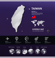 taiwan map illstration vector image