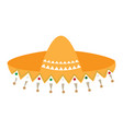 traditional mexican hat vector image vector image