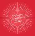 valentines day vintage card design on red vector image