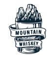 whiskey glass or brandy bourbon whisky scottish vector image vector image