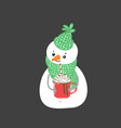 winter holidays snowman cheerful snowmen in diffe vector image vector image