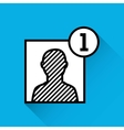add contact person icon vector image