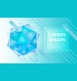 abstract geometrical background banner copy space vector image