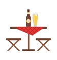 Camping table and chair set vector image