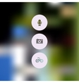 Abstract blurred UI concept with entertainment vector image