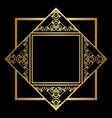 art deco frame border vector image vector image