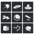 Astronomy space science icons set vector image vector image