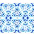 blue flower fractal thin pattern vector image vector image