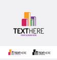 book logo modern color style vector image