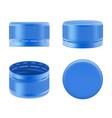 bottle cap realistic polyethylene colorful vector image vector image