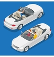 Cabriolet car isometric Flat vector image vector image