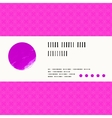 card with watercolour circle in pink vector image vector image