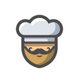 chef in a cook hat icon cartoon vector image