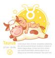 children horoscope icon kids zodiac taurus vector image