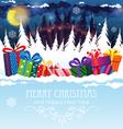 Christmas presents vector image