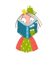 clever little princess reading fairy tale vector image vector image