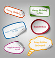 collection of colorful birthday stickers template vector image vector image