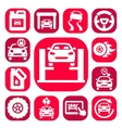 color auto icons set vector image vector image