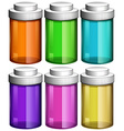 Colourful transparent bottles vector image vector image