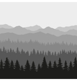 Coniferous Forest and Mountains Background vector image vector image