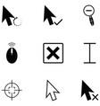 cursor icon set vector image vector image