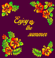 Enjoy the summer - hibiscus decoration vector image vector image