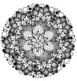 Flower Ornament Black and White3 vector image