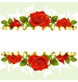 frame whith red roses vector image