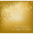 Gold Card With Stars vector image vector image