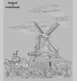 grey hand drawing holland 3 vector image vector image