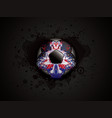 grunge black soccer design vector image