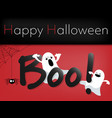 halloween background with boo text vector image vector image