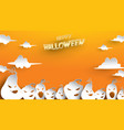 halloween background with pumpkin paper art vector image vector image