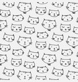 hand drawn cute cats pattern background vector image