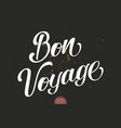hand drawn lettering bon voyage elegant vector image vector image