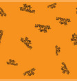 happy halloween pattern seamless color vector image