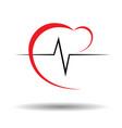 Heart pulse vector image