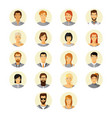 human avatar set in modern flat style vector image vector image