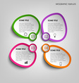 Info graphic with colorful abstract stickers vector image vector image