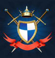 knight coat of arm vector image vector image