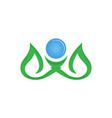 leaf logo design eco-friendly concept vector image vector image