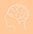 line icon- brain flat vector image vector image