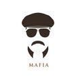 mafioso man portrait man in ivy cap vector image