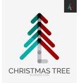 Minimal line design logo Christmas tree icon vector image