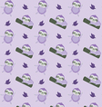 pattern with cute cartoon sloth vector image vector image