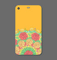 phone case design fashionable floral ornaments vector image vector image