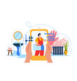 plumber flat composition vector image