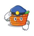 police fruit basket character cartoon vector image