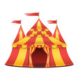 realistic circus tent red and yellow vector image vector image